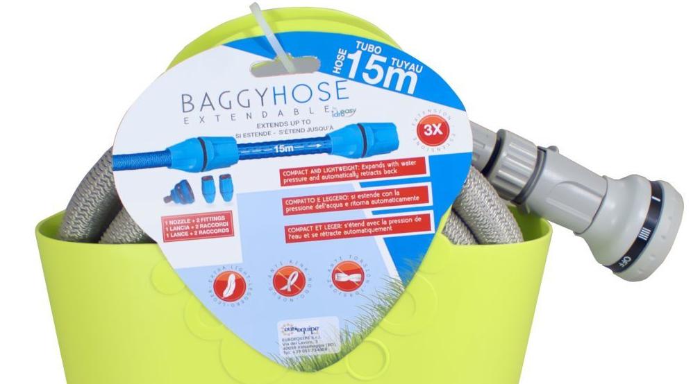 Baggy Hose verde estensibile