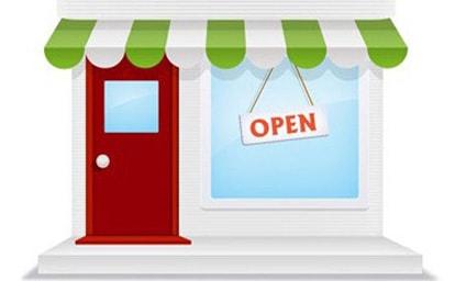 Insegna negozio online