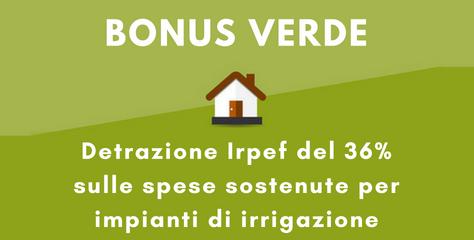 detrazione irpef per impianti di irrigazione
